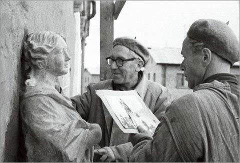 Skulptorid Elmar Rätsep ja Feliks Blumbergs